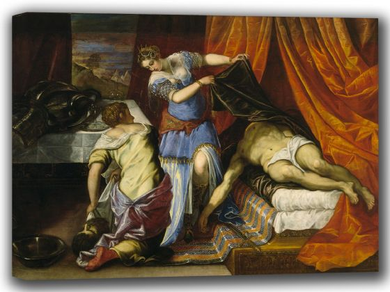 Tintoretto, Jacopo Robusti: Judith and Holofernes. Fine Art Canvas. Sizes: A4/A3/A2/A1 (001994)